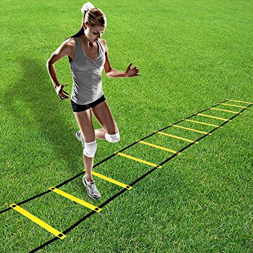 eshion 12 Rungs Adjustable Training Agility Ladder for Soccer, Speed, Football with Carry Bag