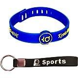 AMIC Basketball Silicone Wristband, Adjustable Rubber Bracelet
