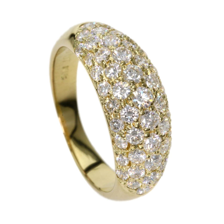 [セレクトジュエリー]ダイヤモンド リング指輪 K18イエローゴールド レディース (中古) B07BB8GV68