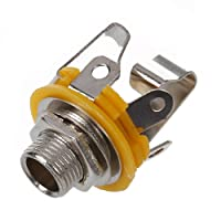"""SODIAL New Stereo Output 1/4"""" 6.35mm Jacks Socket For Electric Guitar Switch Repairs"""