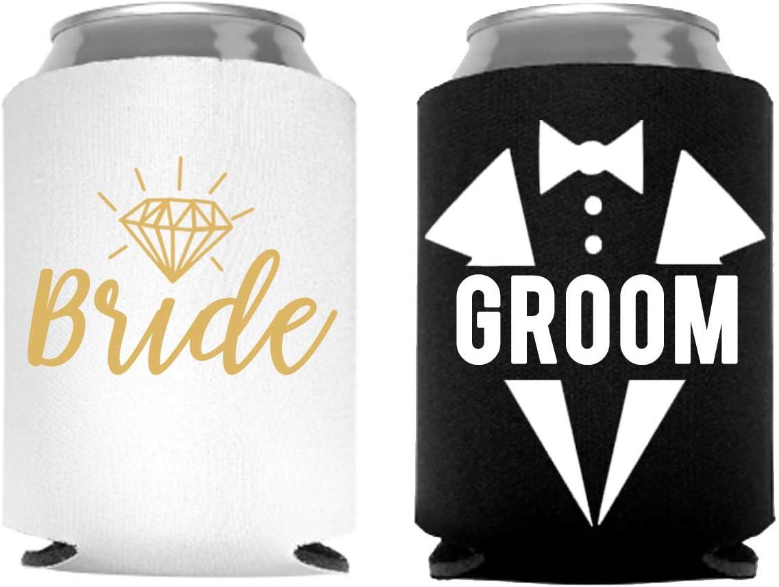modern simple wedding stubby holder wedding beverage holder Best Day ever can coolie Best Day Ever simple wedding can coolers 100 qty