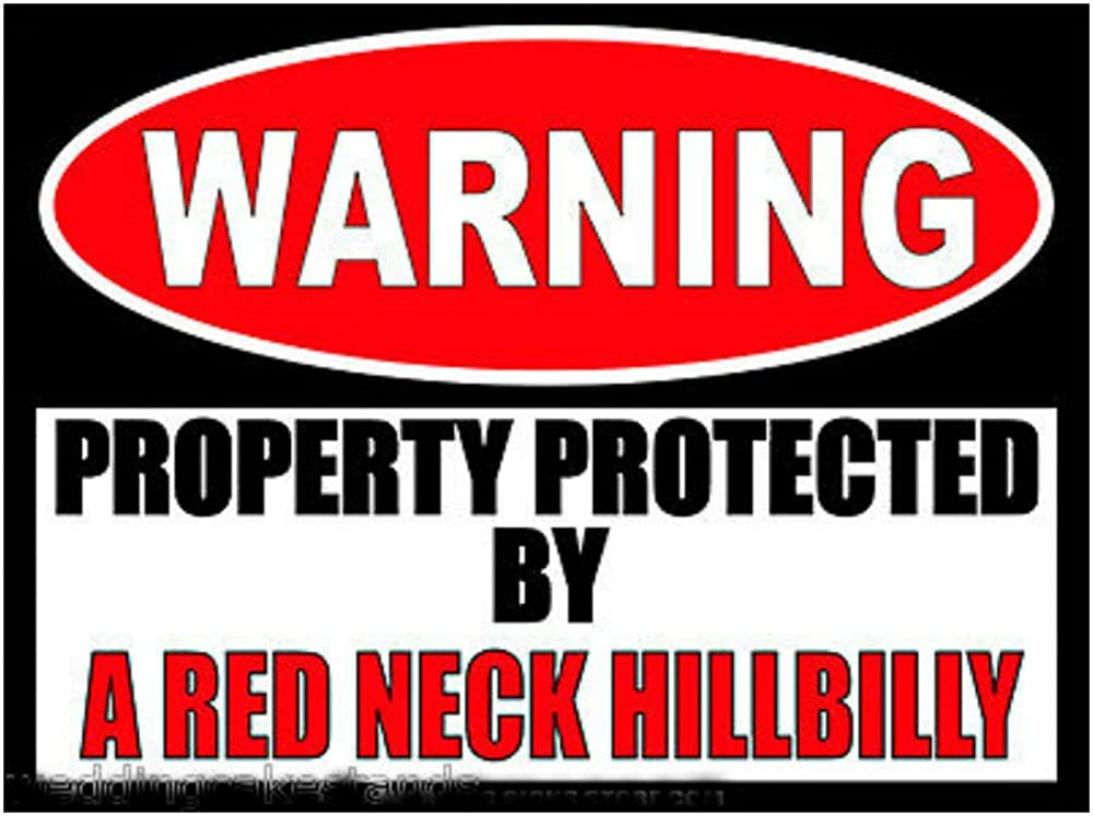 Redneck Stickers Funny Hillbilly Warning Sign Bumper Stickers 2 Decal WS401