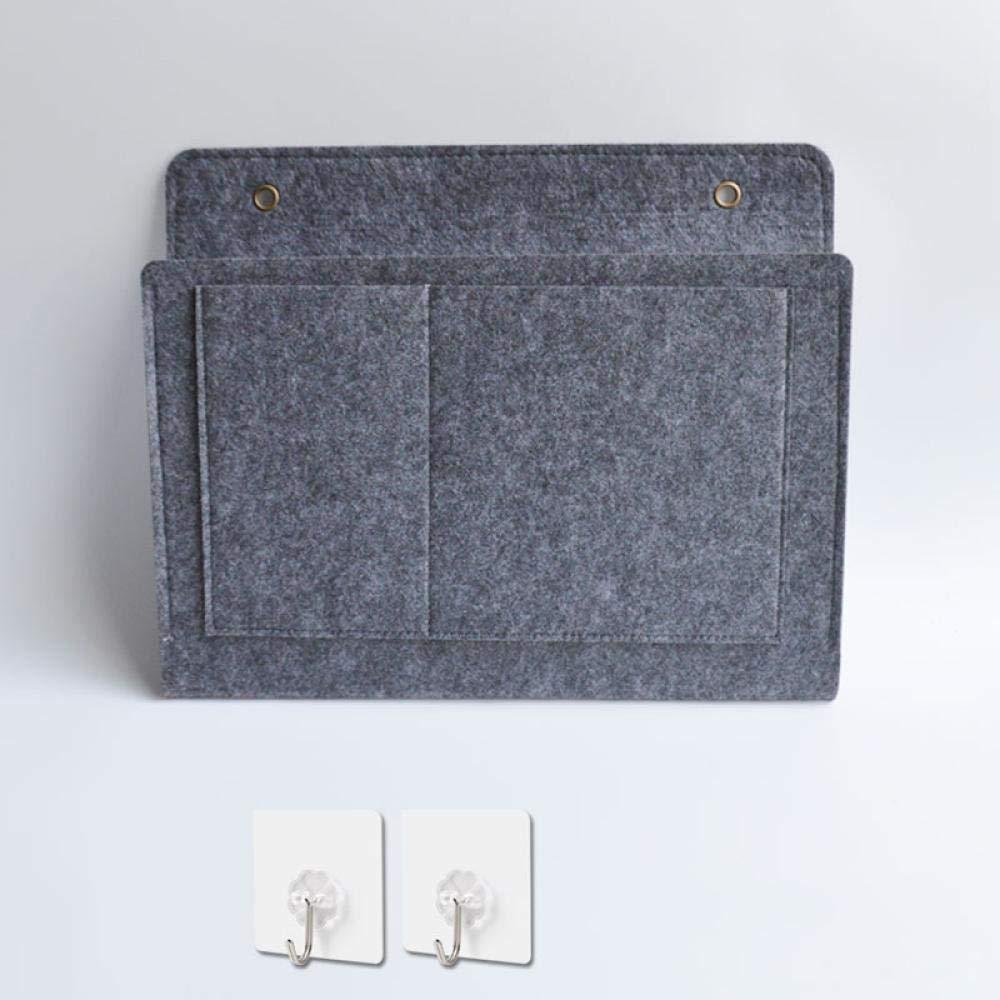 Personalisierte hochwertige Filztuch Bett Aufbewahrungstasche h/ängende Tasche Bedside Sofa Handy-Fernbedienung Artefakt Schlafsaal Wand-Aufbewahrungstasche Schule zu Hause Multifunktions-Aufbewahrung