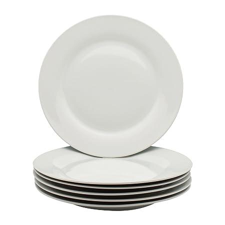 Argon Tableware White Wide Rimmed Dinner Plates - 268mm (10.5u0026quot;) ...  sc 1 st  Amazon UK & Argon Tableware White Wide Rimmed Dinner Plates - 268mm (10.5 ...