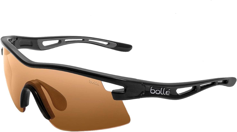 bollé Vortex - Gafas de Sol para Hombre Multicolor Negro Brillante/ámbar: Amazon.es: Ropa y accesorios