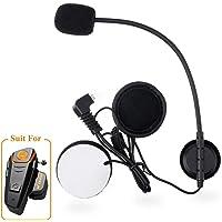 Qaurora Micrófono Cable Auricular Traje para BT-S2 Motocicleta Casco Intercom Headset(Micrófono)