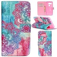 Nexus 5X Case,Gift_Source (Colorful Flower Mandala)Luxury Wallet PU Leather Case Flip Cover Built-in Card Slots Flip case Pattern For LG Google Nexus 5X (2015)