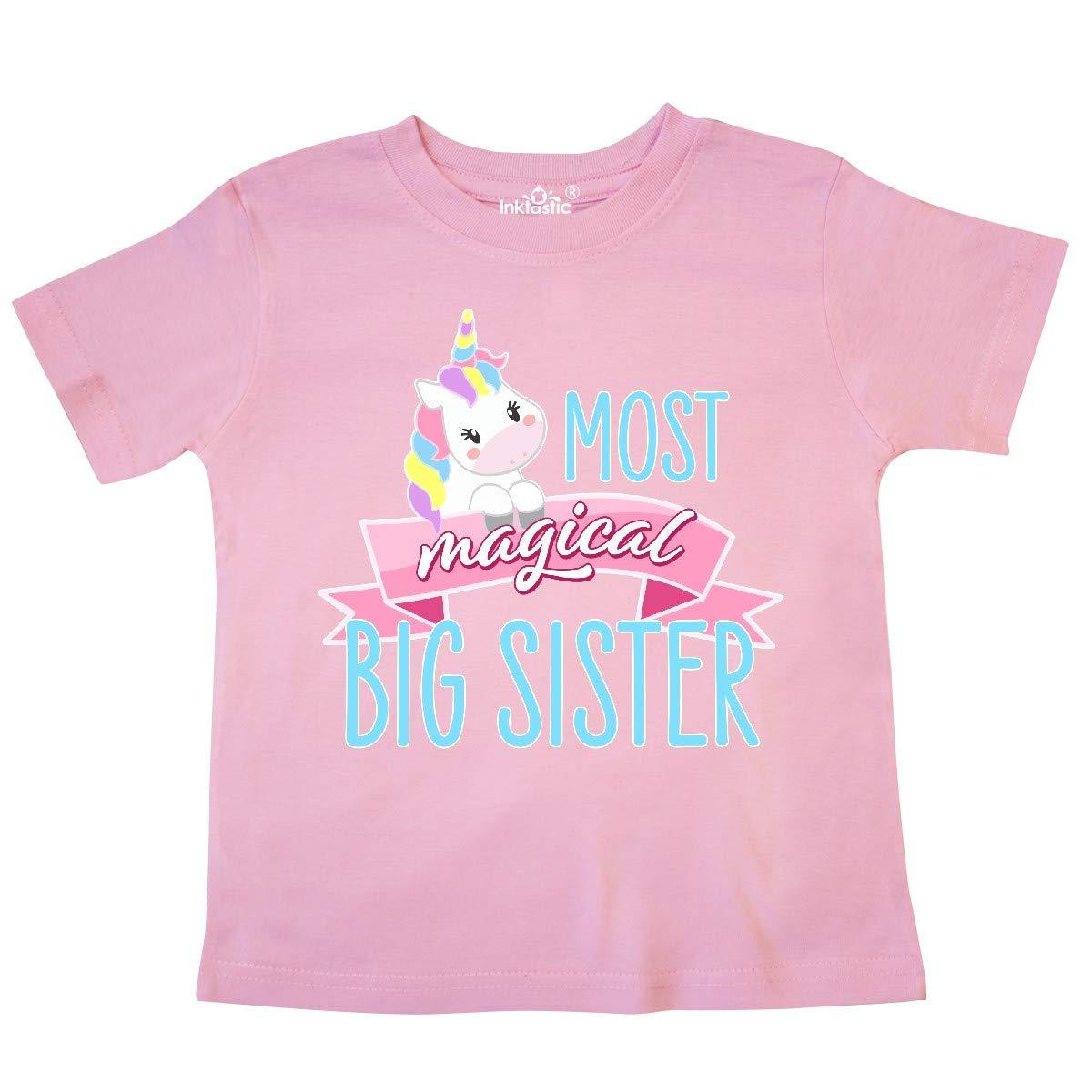 Cute Unicorn Toddler T-Shirt inktastic Most Magical Big Sister