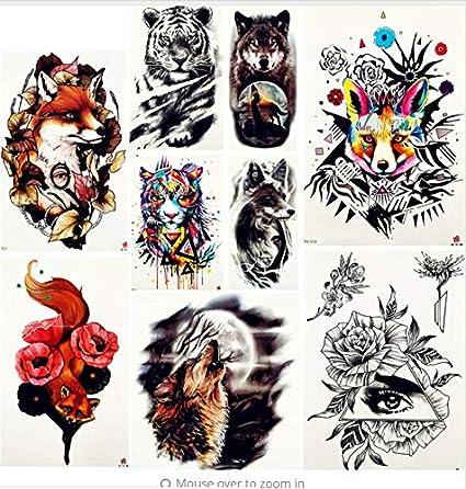ruofengpuzi Adesivo tatuaggioTiger King Body Arm Art Tattoo ...