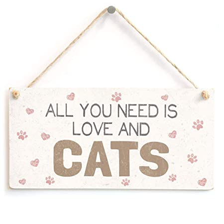 MiMiTee All You Need Is Love and Cats Cartel de Madera ...