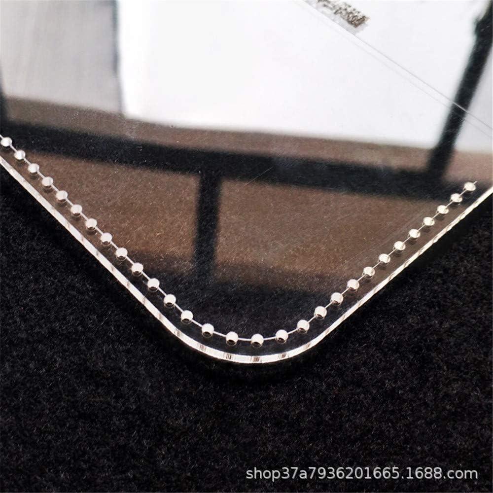 Rancheng 1set Acrylique Mod/èle pour Fabrication de Porte-monnaie en Cuir Cartoon Chat Pochoir Leathercraft Bricolage