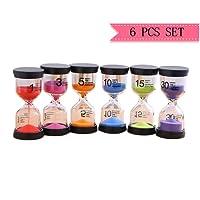 Lot d'horloges de sable programmables comprenant les les sabliers de 1min, 3min, 5min, 10min 15min 30min pour cadeau pour enfant bestseller
