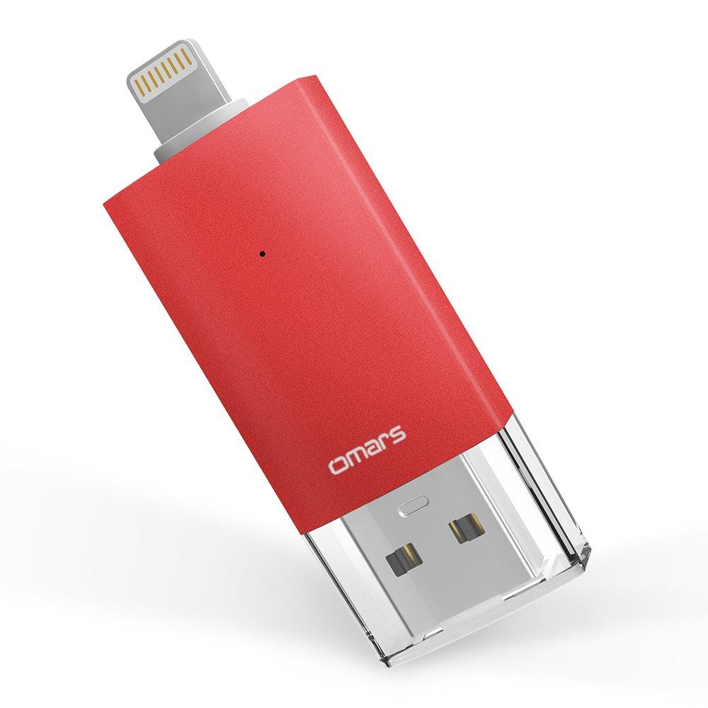 Omars 128GB USB 3.0 Flash Drives for iPhone Memory Storage, Jump Drive Lightning Memory Stick External Storage, Memory Expansion for Apple IOS/Macbook OMLTU3DCG128G