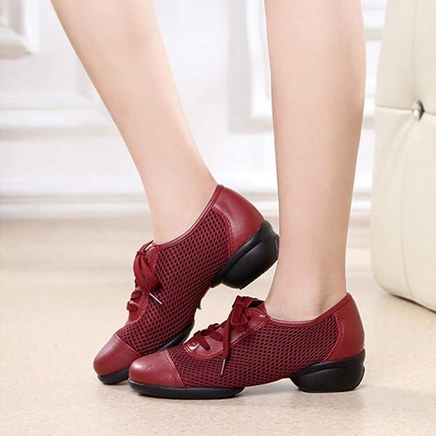 Zapatos QinMM Bailarinas Planos Tango Rumba para Baile de