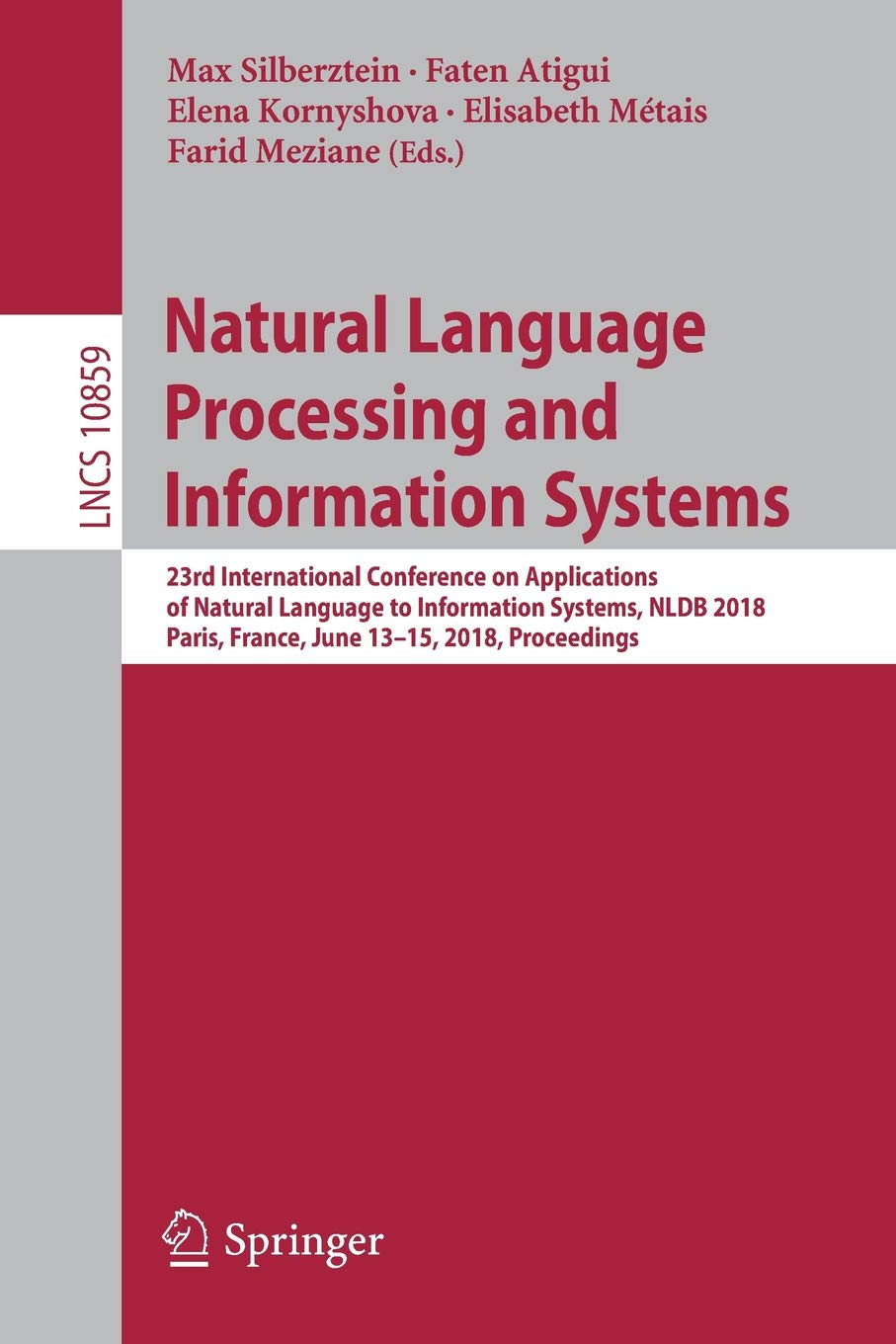 Natural Language Processing and Information Systems: 23rd International Conference on Applications of Natural Language to Information Systems, NLDB ... (Lecture Notes in Computer Science)