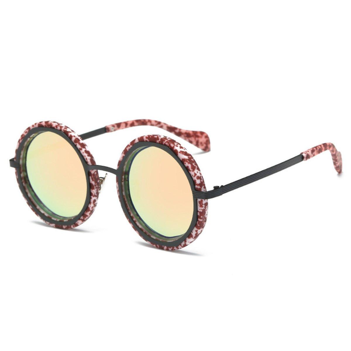 Nuevo Retro Marco Redondo Gafas De Sol Polarizadas Hombres Y Mujeres De Las Gafas De Sol Coloridas,A3: Amazon.es: Jardín