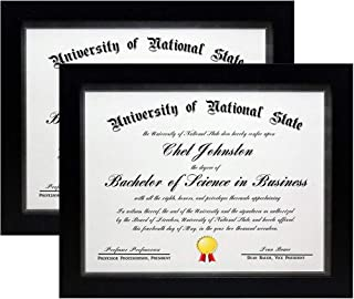 product image for Flag Connections 8.5x11 Black Gallery Certificate and Document Frame - Package 2