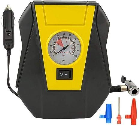 TOOGOO Auto Portatif De Pompe /électrique De Compresseur dair De Voiture De Gonfleur De Pneu 12V DC Volt 100 Psi