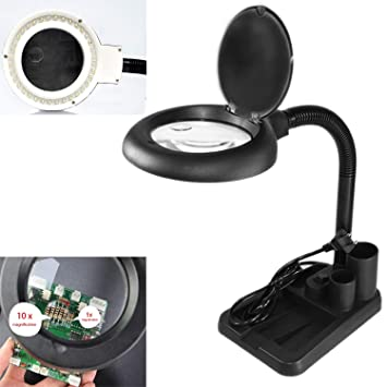 Amazon.com: Lupa LED, 5 x 10 x Lupa y lámpara de mesa y ...