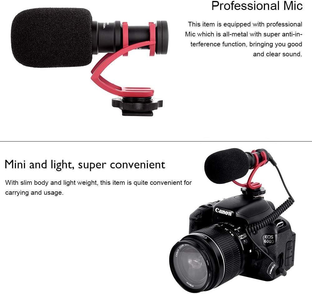 Comica CVM-VM10II Compact Camera Microphone Cardioid Directional External Mini Shotgun Video Microphone for Camera Smartphone DSLR Canon 70D Nikon D3300 Sony Panasonic Red