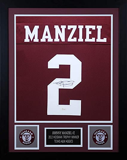 5ef0879058d Johnny Manziel Autographed Maroon Texas A M Aggies Jersey - Beautifully  Matted and Framed - Hand Signed