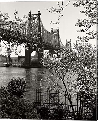 59Th Street Bridge by Christopher Bliss Canvas Art Wall Picture, Gallery Wrap, 18 x 22 inches