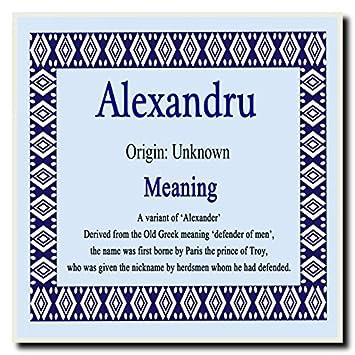 Alexandru personalizado nombre significado placa cuadrada: Amazon.es: Oficina y papelería