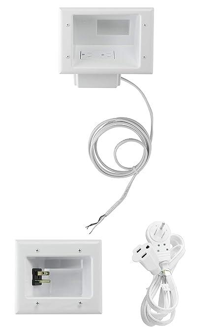 amazon com datacomm electronics 50 6623 wh kit flat panel tv cable rh amazon com