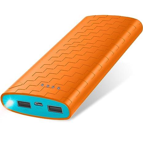 Batería Externa Power Bank 20000mAh Cargador Portátil Sipu Cargador Móvil Portátil Carga con 2A de Entrada