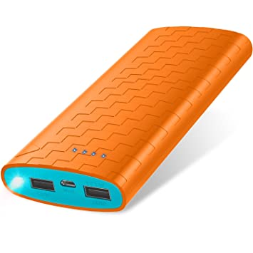 Batería Externa Power Bank 20000mAh Cargador Portátil Sipu Cargador Móvil Portátil Carga con 2A de Entrada, Luces LED y 2 Puertos de Carga ...