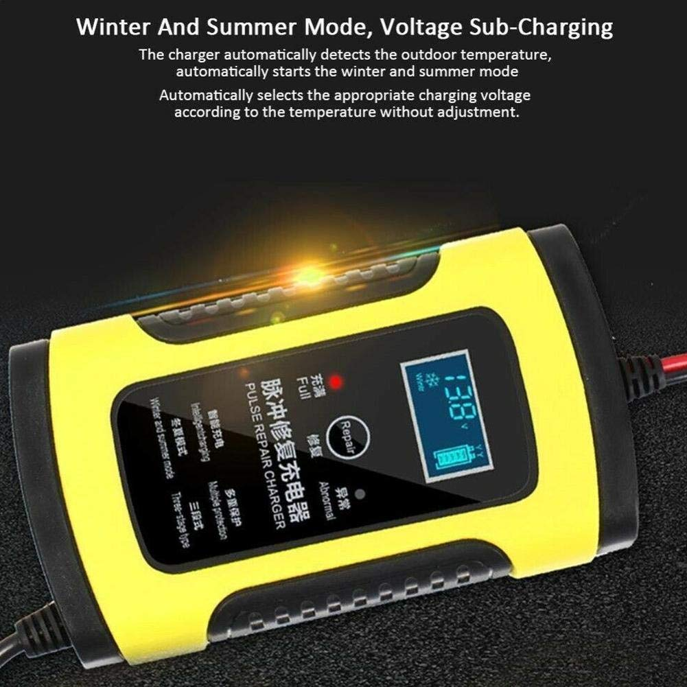 Star Eleven 12V 5A Car Jump Starter Auto Battery Booster Pulse Repair Charger With LCD Monitor Motorcycle And Car Battery Charger