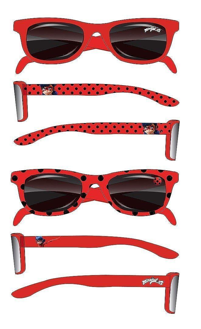 Miraculous Ladybug Lunettes de soleil enfant fille rouge de 2 à 6 ans  Protection UV400 Norme ac7dc6a7d5b0