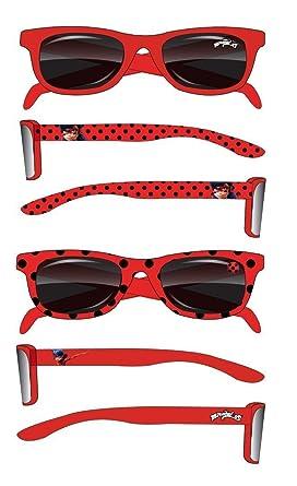 Nouvelles Arrivées Chaussures de skate marques reconnues Miraculous Ladybug Lunettes de soleil enfant fille rouge de 2 à 6 ans  Protection UV400 Norme CE