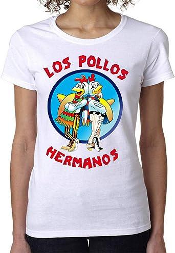Los Pollos Hermanos Breaking Bad Womens T-Shirt Camiseta Mujer Tshirt: Amazon.es: Ropa y accesorios