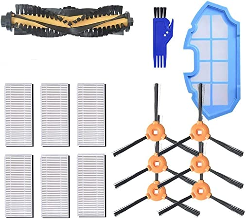 MAXDIRECT Kit de Recambios de Accesorios para Aspiradora Robot Cecotec Conga Excellence 990 - Cepillo Lateral, Cepillo Central, Filtro HEPA, Filtro Esponja - Pack de 21 PCS: Amazon.es: Hogar