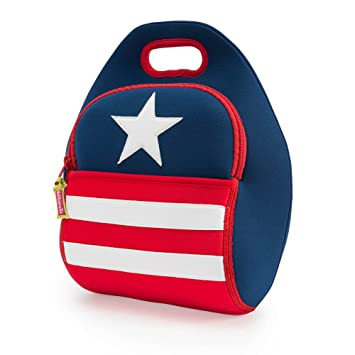 Dabbawalla Bags Stars and Stripes American Flag Kids    Adults  Insulated  Washable   Eco 1e8976cfff50b