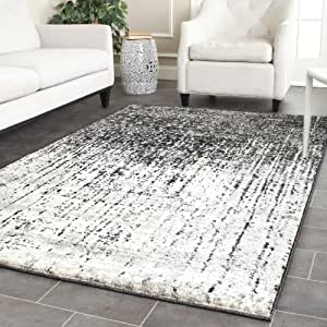 Safavieh Retro Collection RET2770-9079 Modern Abstract Black and Light Grey Area Rug (5' x 8')