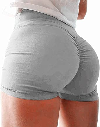 Shorts Yoga for Women,Women Yoga Ruched Booty High Waisted Gym Workout Butt Lifting Hot Pants