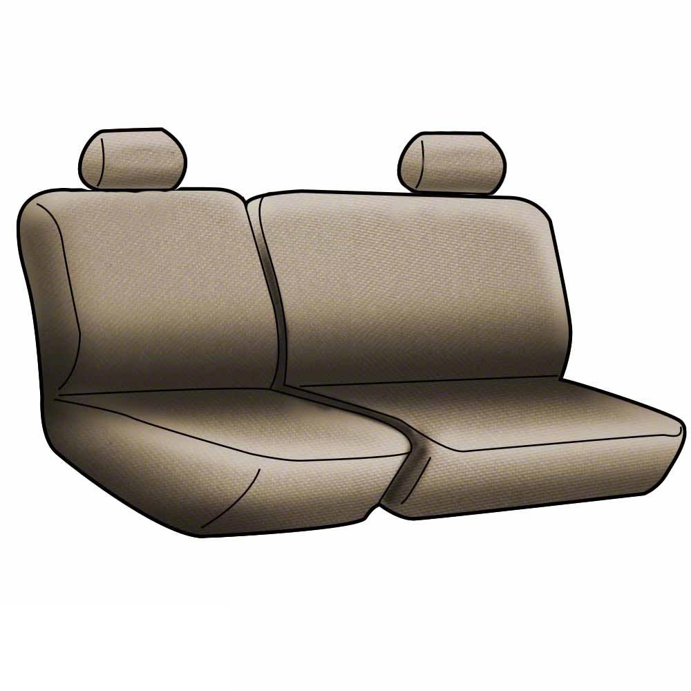 CSC2A5NS9764 Tan with Black Sides Neosupreme Coverking Custom Fit Rear 60//40 Bench Seat Cover for Select Nissan Frontier Models