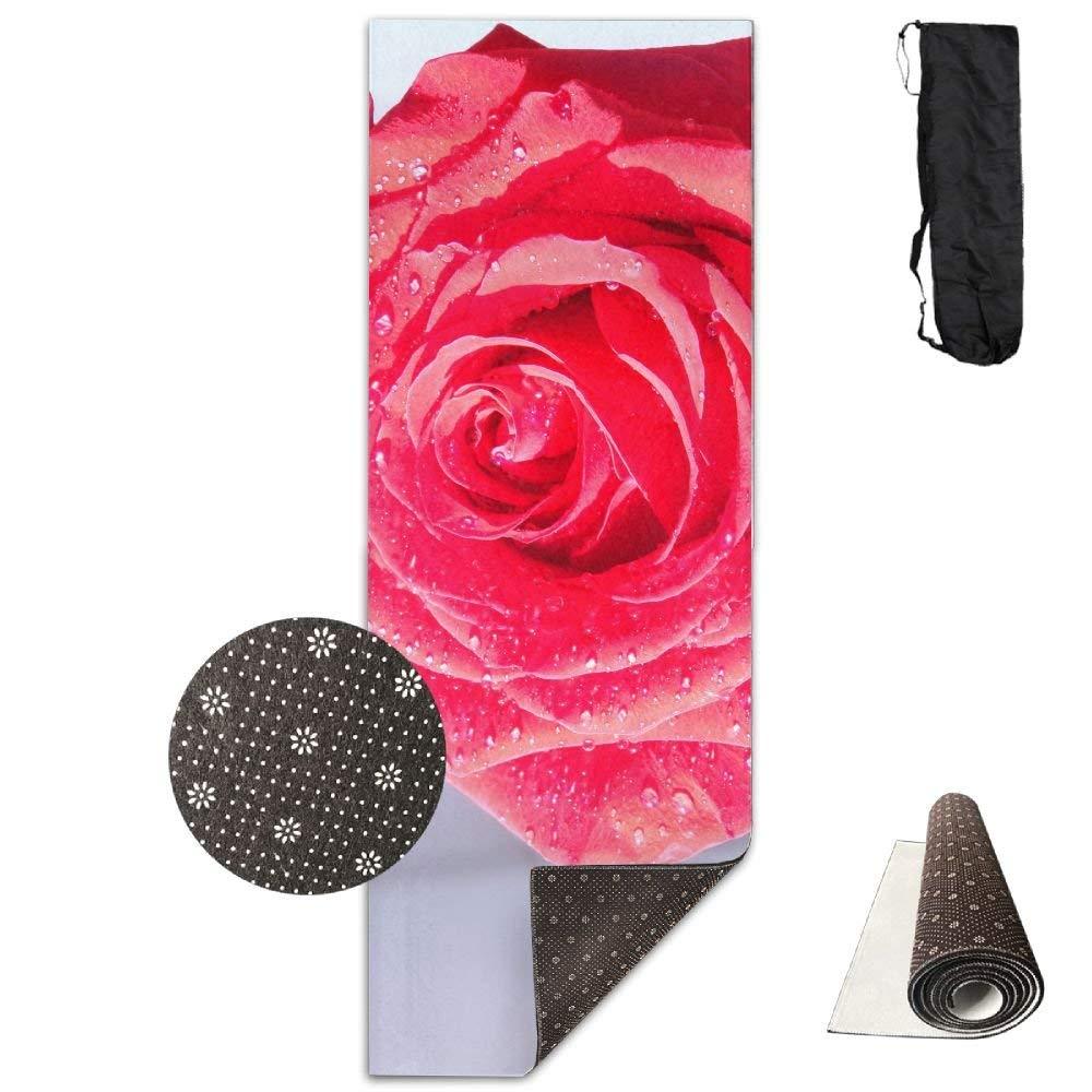 Pink Macro Drops Dew Flower ECO Aqua Power Kinematic Iyengar Kundini Hot Pilates Gymnastics Hatha Yoga Mat Exercise Mat