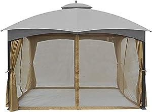 ABCCANOPY Universal 10' x 12' Gazebo Replacement Mosquito Netting Walls (Beige)