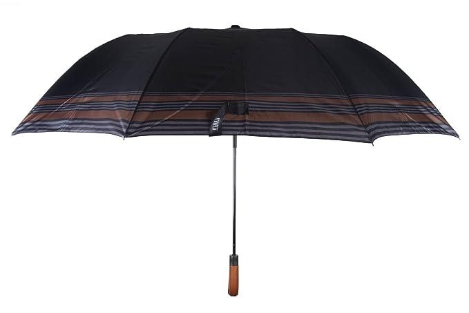 Paraguas hombre largo golf PERLETTI negro apertura automática Q966