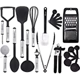 Kitchen Utensil Set - 23 Nylon Cooking Utensils - Kitchen Utensils with Spatula - Kitchen Gadgets Cookware Set - Best Kitchen Tool Set Gift by HomeHero