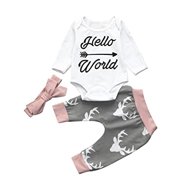 Amazon.com: Fyhuzp Toddler Clothes Set, 2019 3Pcs Baby Boy Girls ...