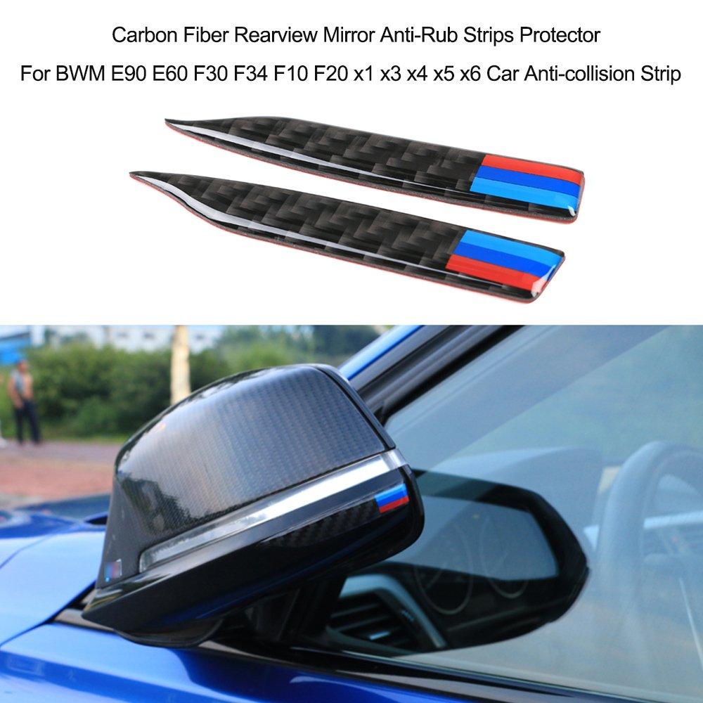 KKmoon Specchietto retrovisore in Fibra di Carbonio Protezione Anti-sfregamento per E90 E60 F30 F34 F10 F20 x1 x3 x4 x5 x6 Striscia anticollisione per Auto 010-A