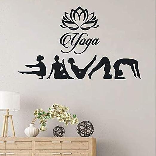 Pegatina Pegatina de vinilo Postura de yoga extraíble ...
