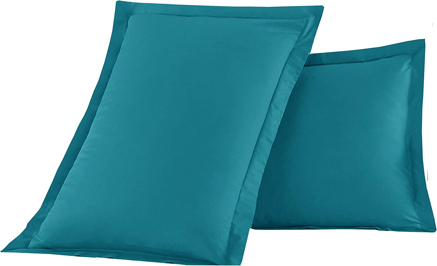 Turquoise King Size Luxury Ultra-Soft Premium Hotel Quality 2-Piece Pillow Shams Microfiber Double Brushed-100/% Hypoallergenic-Wrinkle Resistant