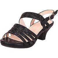 Cambridge Select Girls' Open Toe Strappy Crystal Rhinestone Low Heel Sandal (Toddler/Little Kid/Big Kid)