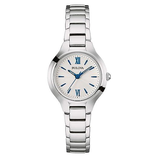 Amazon.com: Bulova Reloj de esfera blanca para mujer ...