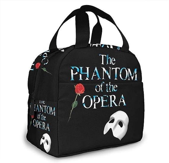 The Phantom of The Opera Bolsa de Almuerzo port/átil Caja de Almuerzo aislada Bolsa de Camping para el Trabajo Viaje Escolar Lonchera Aislada SDFSDF Lonchera